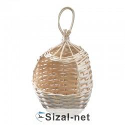 Gniazdko koszyk z trzciny mały 8x8 cm