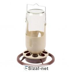 Poidło szklane do woliery dla ptaków - 1 litr